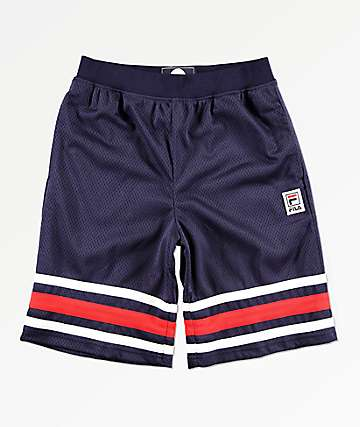 FILA Boys Logo Navy Mesh Shorts