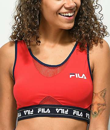 FILA Brenda Red Sports Bra