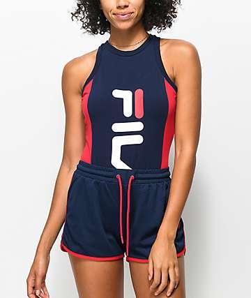 FILA Carinne Navy & Red Bodysuit