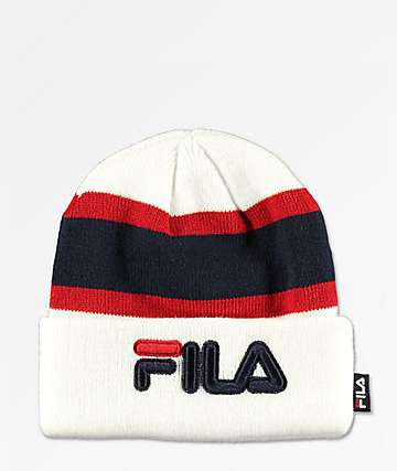 FILA Colorblock gorro blanco