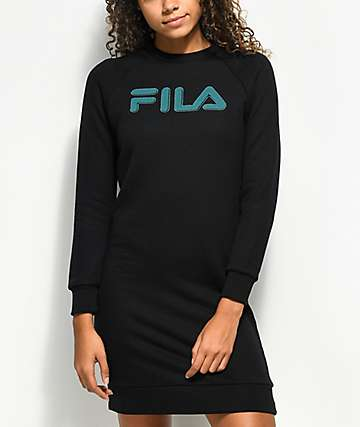 FILA Courtney Black Sweater Dress