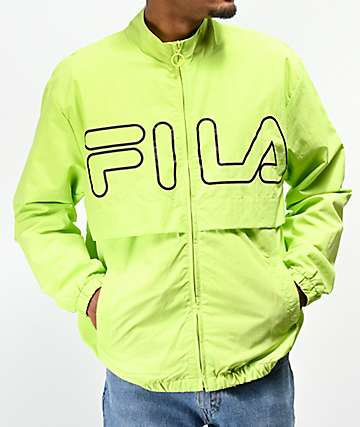 23152c777224 FILA Dani Bright Green Windbreaker Jacket
