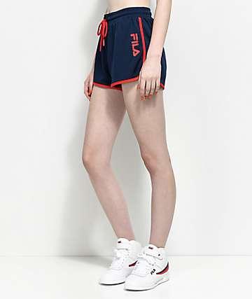 FILA Delphine Navy Mesh Shorts