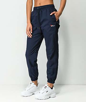FILA Diana Navy Cutout Zipper Track Pants