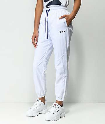 FILA Diana White Cutout Zipper Track Pants