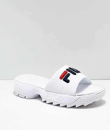 45b690da9ac1 FILA Disruptor Bold White Slide Sandals