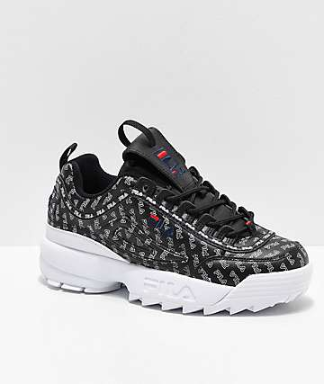 FILA Disruptor II All Over Black Shoes