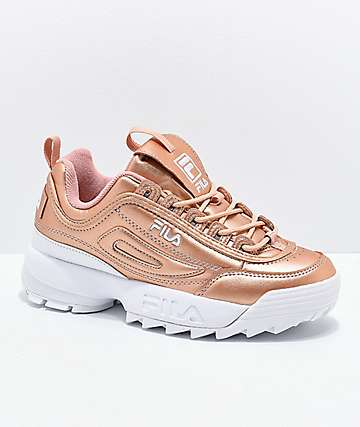 FILA Disruptor II Premium Rose Gold & White Shoes