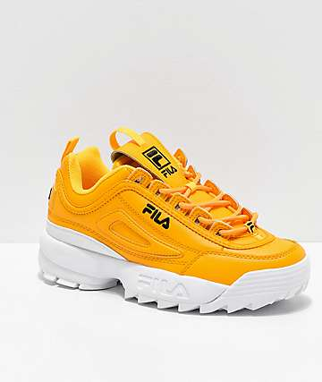 FILA Disruptor II Premium Yellow, White & Black Shoes