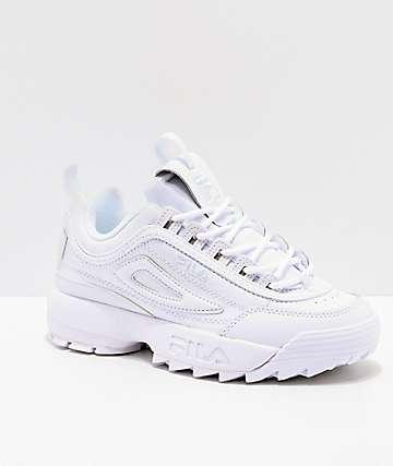 542e7dbf961 FILA Disruptor II Premium zapatos blancos