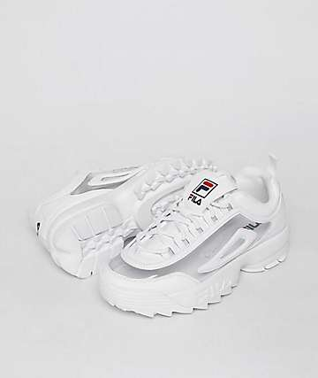 FILA Disruptor II White & Clear Shoes