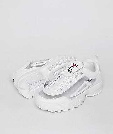 FILA Disruptor II White & Clear Shoes