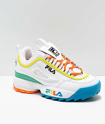 09b523da8037 FILA Disruptor Multicolor   White Shoes