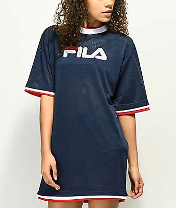 FILA Drew Navy Mesh Dress
