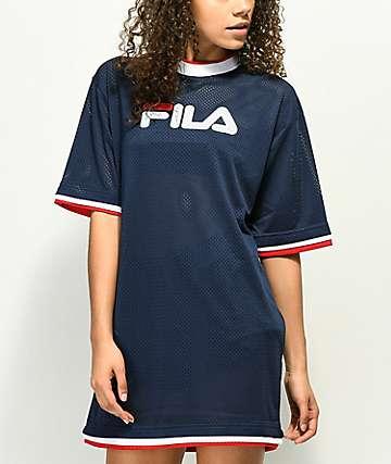 FILA Drew Navy Mesh Dress