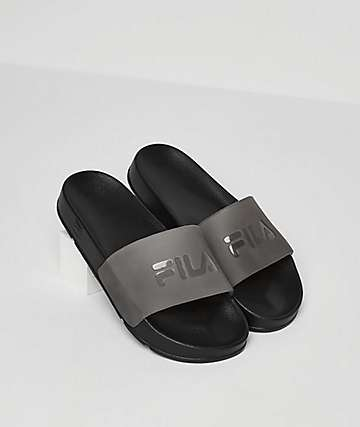 FILA Drifter Molded Black Slide Sandals