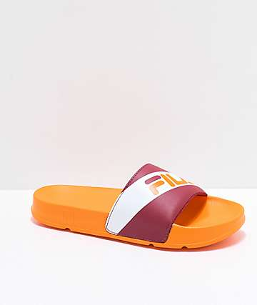 FILA Drifter Red & Orange Slide Sandals