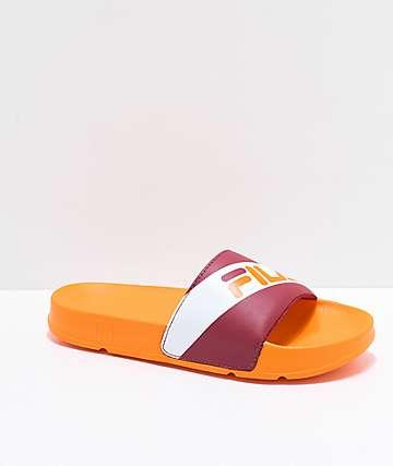 FILA Drifter Red & Orange Slide Sandals