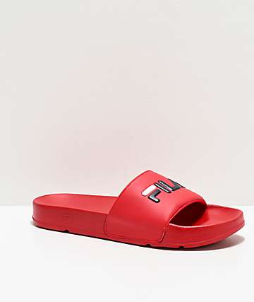 FILA Drifter Red Slide Sandals