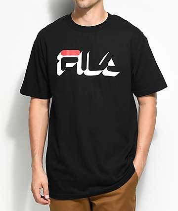 FILA Dropshadow camiseta negra