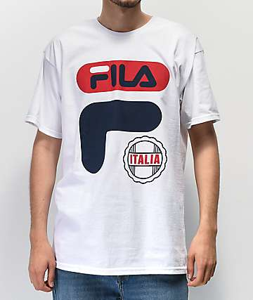 07f90ebd8a683 FILA Efrain White, Navy & Red T-Shirt