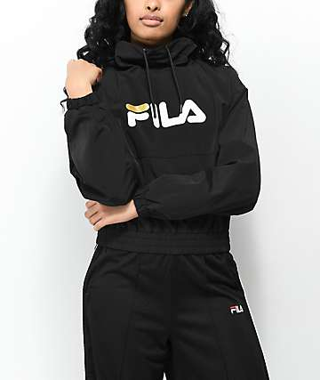 FILA Elsie Black Funnel Neck Jacket