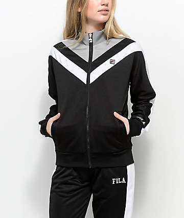 FILA Faith Black, White & Grey Track Jacket