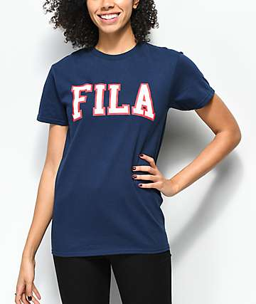 FILA Grace Navy T-Shirt