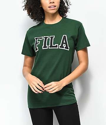 FILA Grace camiseta verde oscuro