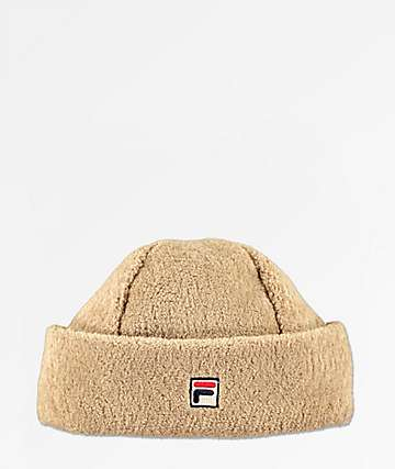 FILA Heritage gorro de polar color natural