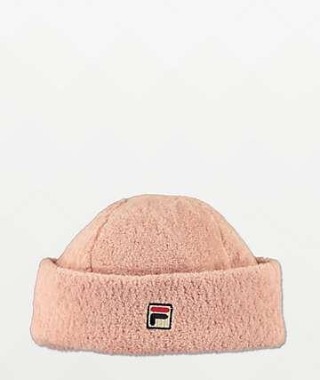 FILA Heritage gorro de polar rosa