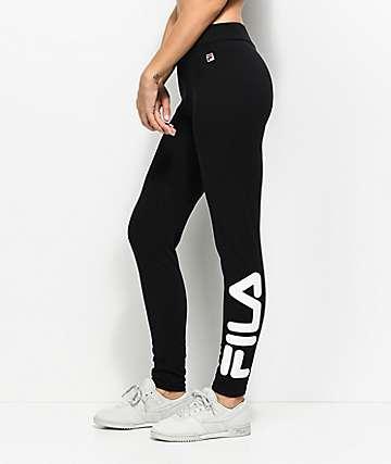 FILA Imelda Logo Black & White Leggings