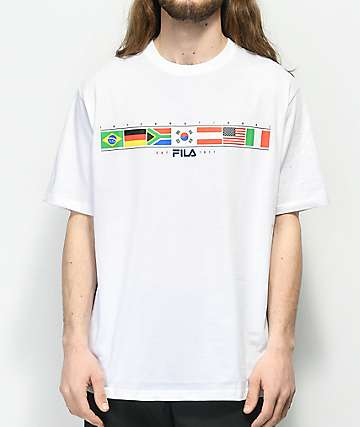 FILA Jack Flags White T-Shirt
