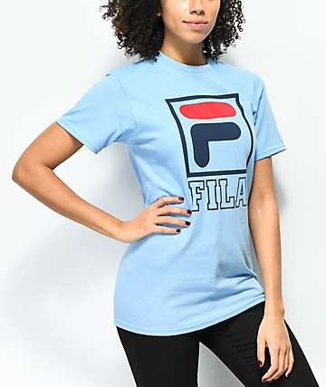 FILA Kayla Skyway Blue T-Shirt