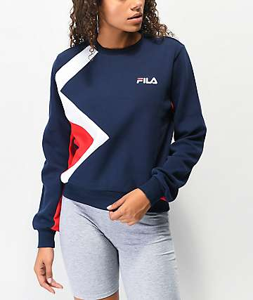 FILA Kazuno Navy, White & Red Crew Neck Sweatshirt