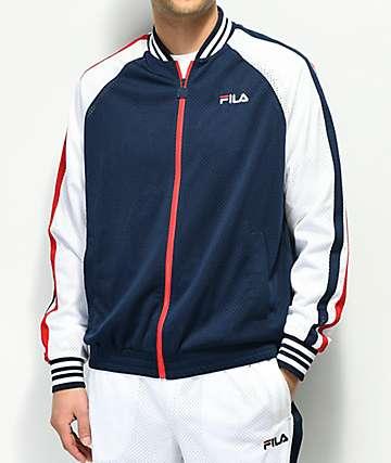 FILA Lucas chaqueta de chándal blanca, azul y roja
