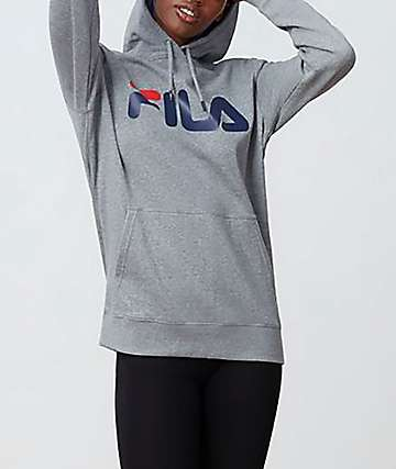 FILA Lucy Heather Grey Hoodie