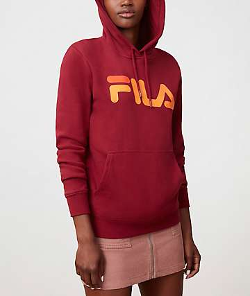 FILA Lucy Red, Orange & Burgundy Hoodie