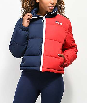 FILA Martina Snap Sleeve Puffy Jacket