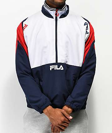 FILA Marty White & Red Track Jacket