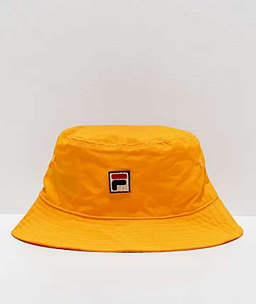 FILA Matte Yellow Nylon Bucket Hat