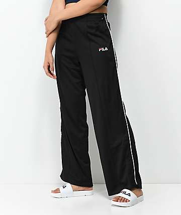 FILA Neka Tear Away Black Mesh Track Pants