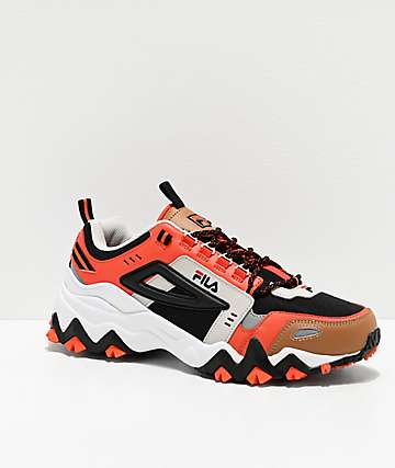 FILA Oakmont Trail Black, Red, Silver & White Shoes