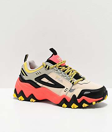 FILA Oakmont Trail Coral & Black Shoes