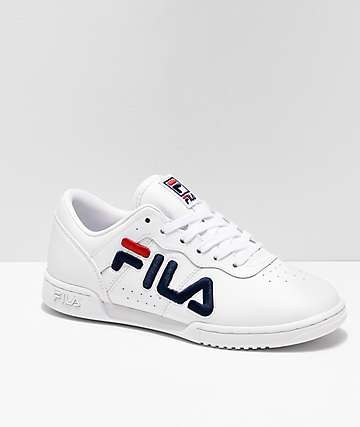 FILA Original Fitness White & Red Shoes