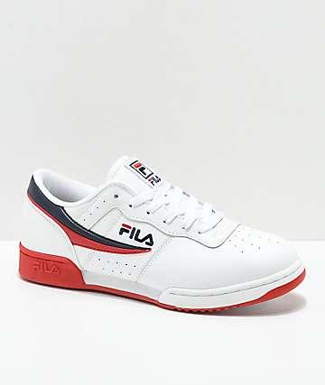 FILA Original Fitness zapatos en blanco, azul marino y rojo