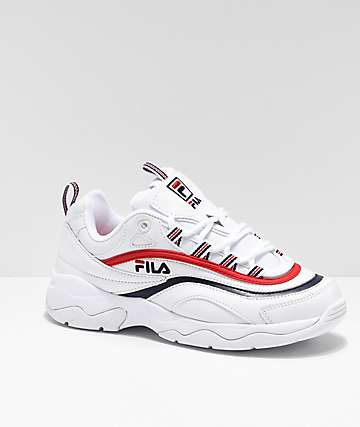 FILA Ray Red, White & Blue Shoes