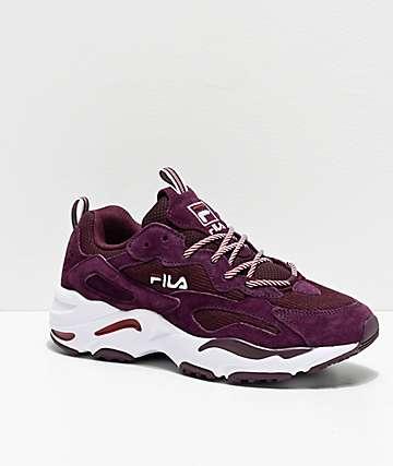 FILA Ray Tracer Maroon Shoes