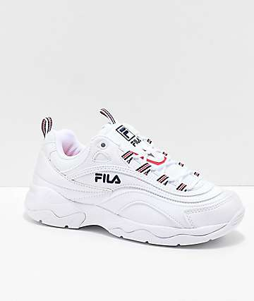 FILA Ray White, Red & Blue Shoes