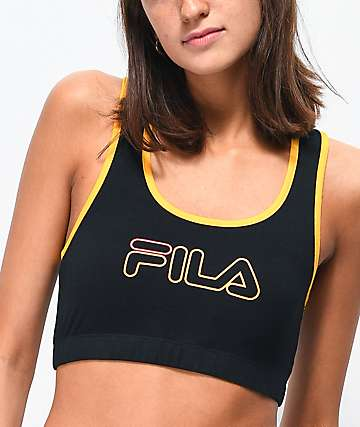 e743ff2d658c2 FILA Rebeca Black   Gold Sports Bra